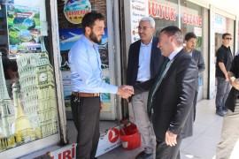 Başkan Beyoğlu'ndan esnaf ziyareti